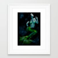 siren Framed Art Prints featuring Siren by Ilaria De Rosa