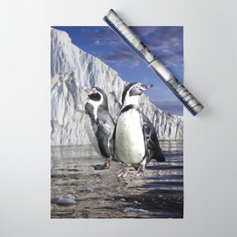 Penguins and Glacier Wrapping Paper