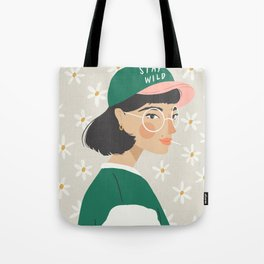 Stay Wild Green Tote Bag