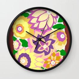 CAMBRIA, ART DECO FLORALS: BOHO SUMMER Wall Clock