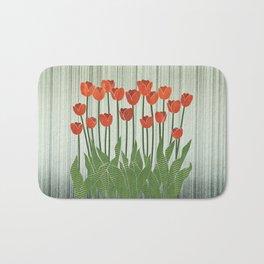 Orange Tulips Bath Mat
