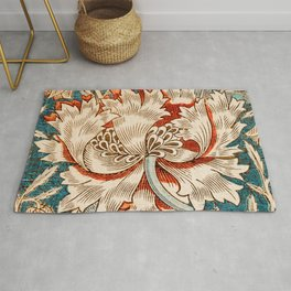 Honeysuckle (1876) by William Morris, Abstract I Poster Rug