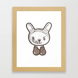 Boxing Bunny Framed Art Print