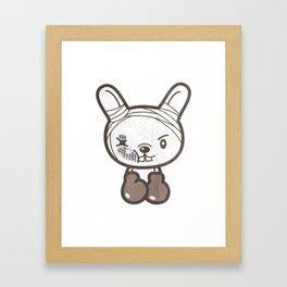 Boxing Bunny Framed Art Print