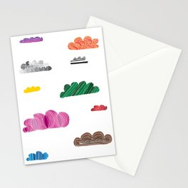 Colorful Clouds Stationery Cards