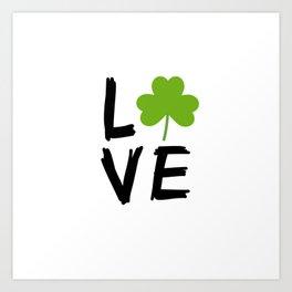 Love St Patricks Day Art Print
