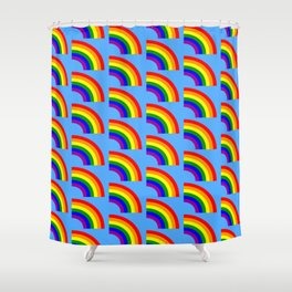 LGBT Gay Matching Couple Half Rainbow Shower Curtain