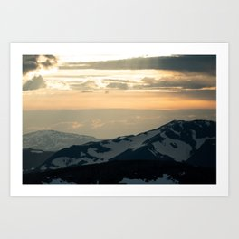 Glacial Heights I Art Print