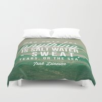 the cure Duvet Covers featuring Salt Water Cure by Olivia Joy StClaire