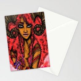 AfroZodiak Collection©:Aries  Pinup Art by Hemenjini Nubian-Bey Stationery Cards