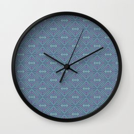 Blue Patch Wall Clock
