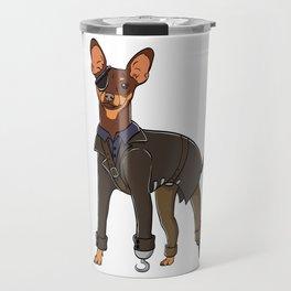 "Certified Dog Lover? Here's a cute t-shirt design with an illustration of ""Pinscher"" T-shirt Design Travel Mug"