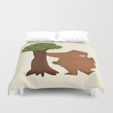 Bear and Madrono Duvet Cover