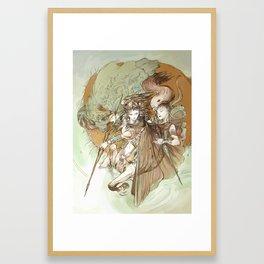 Ancient Centaur War Goddess Framed Art Print