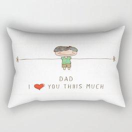 I love you dad boy Rectangular Pillow