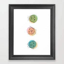 3 heads Framed Art Print