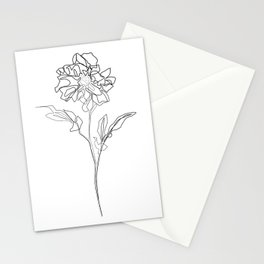 """""""Botanical Collection"""" - Dahlia Flower Stationery Cards"""