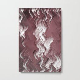 marsala and white abstract Metal Print