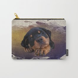 Cute Rottweiler Puppy Carry-All Pouch
