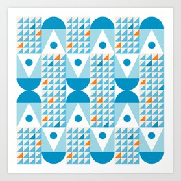 Kaiser MidCentury Modern Geometric Pattern Art Print