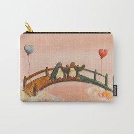 penguins on bridge Carry-All Pouch