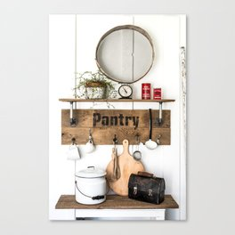 Pantry Shelf - tall Canvas Print