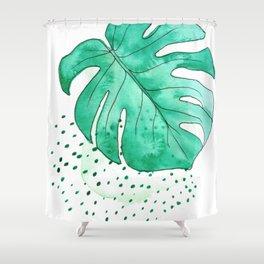 monstera monday Shower Curtain