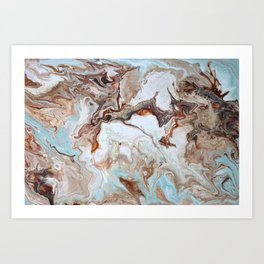 Milk Chocolate with peppermint & cream 2 Art Print