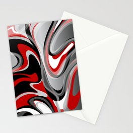 Liquify - Red, Gray, Black, White Stationery Cards