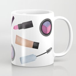 Scattered Makeup Pattern Coffee Mug