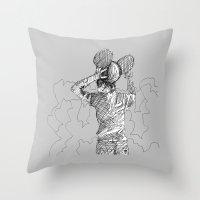 deadmau5 Throw Pillows featuring mau5 by HiddenStash Art