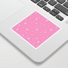 Scattered Stars on Pink Sticker