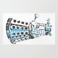 dalek Area & Throw Rugs featuring Dalek Graffiti by spacemonkey89