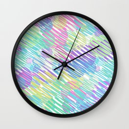 colorful bubbles Wall Clock