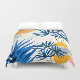 Blue Morocco Whimsy - Sunny Garden Art Duvet Cover