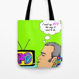 I Want my MTV the way it used to be, 90's Ewan McGregor Illustration Tote Bag