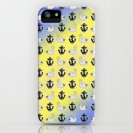 Captain Swan – Lieutenant Duckling pattern iPhone Case