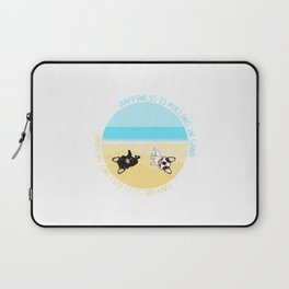 Frenchies Rolling In The Sand Laptop Sleeve