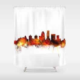 Louisville Kentucky City Skyline Shower Curtain