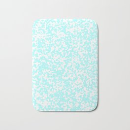 Small Spots - White and Celeste Cyan Bath Mat