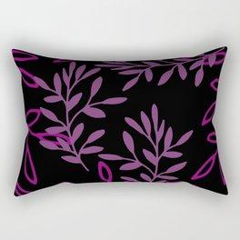 Leafy Pink Rectangular Pillow