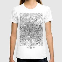 Berlin White Map T-shirt