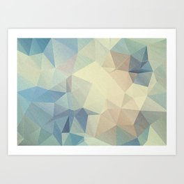 Abstract polygonal 2 Art Print