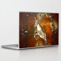 reindeer Laptop & iPad Skins featuring Reindeer by nicky2342