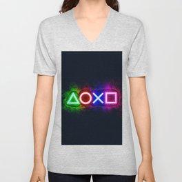 Playstation smoky  Unisex V-Neck