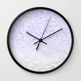 Violet Glitter and Marble Wall Clock