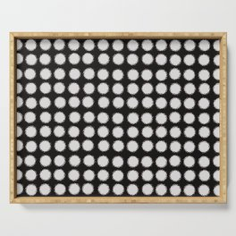 Milk Glass Polka Dots Black And White Serving Tray