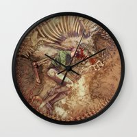 scary Wall Clocks featuring Scary Monster by Fabi