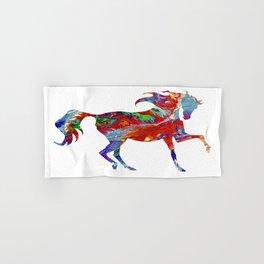 Horse Colorful Silhouette Hand & Bath Towel
