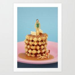 Waffle tower Art Print